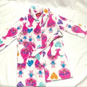 Girls. dream works troll robe. Size 4/6